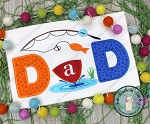 DADS O' Fish' Al Fishing Birthday Applique Design