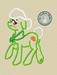 Granny Smith Apple Pony Applique Design