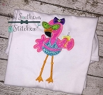 Bikini Flamingo Applique Design