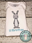 Sketchy Boy Bunny Embroidery Design ~ Boy Easter Bunny