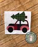 Raggedy Woody Station Wagon Car Applique Design ~ Christmas Tree on Top