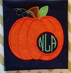 Chevron Pumpkin Applique Design