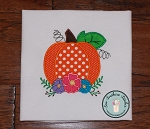 Floral Pumpkin Applique Design 2 ~ Fall Pumpkin