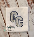 GC Double Varsity Letter Applique Design ~ Greene County High School