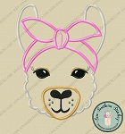 Headband Llama Applique Design ~ Satin Finish