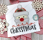 Santa Head Applique Design ~ Lumber Jack Santa