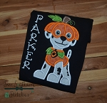 Dalmatian Paw Patrol Dog Applique Design ~ Marshall Halloween Costume