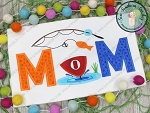 MOMS O' Fish' Al Fishing Birthday Applique Design