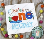O' Fish' Ally ONE Fishing Birthday Applique Design