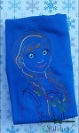 Sketch Frozen Princess - Vintage Stitched - Heirloom Stitched - Bean Stitched