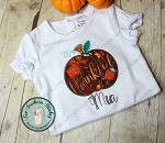 Patches Pumpkin Applique Design ~ Fall Pumpkin ~ Satin finish