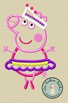 Peppa Pig Ballerina Applique Design