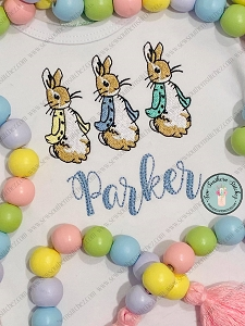 Peter Rabbit Trio Embroidery Design ~ Peter Rabbit Single Embroidery Design