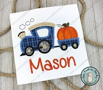 Pumpkin Train Applique Design ~ Fall and Halloween