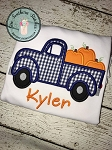Pumpkin Truck Applique Design ~ Old Truck Loaded with Pumpkins