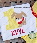 Doggie with Neck Scarf Applique Design ~ Satin Finish
