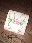 Sketch Floral Bunny ~ Vintage, Heirloom, Triple Bean, Floss Stitch