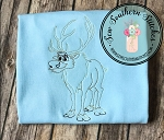 Sketched Frozen Reindeer Sven ~ Vintage Stitched ~ Heirloom Stitched ~ Bean Stitched