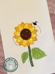 Sunflower Applique ~ Fall Flower