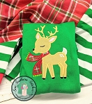 Winter Deer Applique Design ~ Little Buck Wearing Scarf