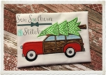 Woody Station Wagon With Christmas Tree