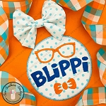 Blippi Circle Applique Design ~ Zig Zag Finish