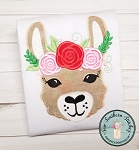 Floral Crown Llama Applique Design ~ Perfect for Valentines