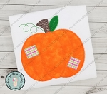 Zig Zag Patches Pumpkin Applique Design ~ Fall Pumpkin