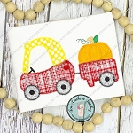 Zig Zag Pumpkin Cozy Coupe Car Applique ~ Girls and Boys Toy Car