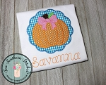 Zig Zag Scallop Circle Pumpkin Applique Design ~ Fall Pumpkin ~ Halloween ~ Thanksgiving